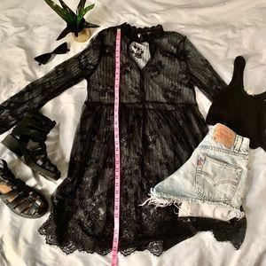 Sheer black lace dress